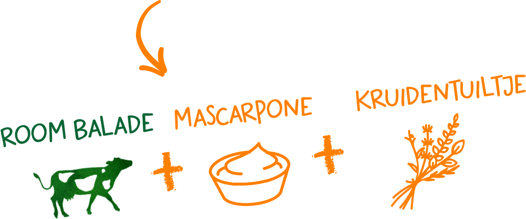 Room Balade + Mascarpone + Kruidentuiltje