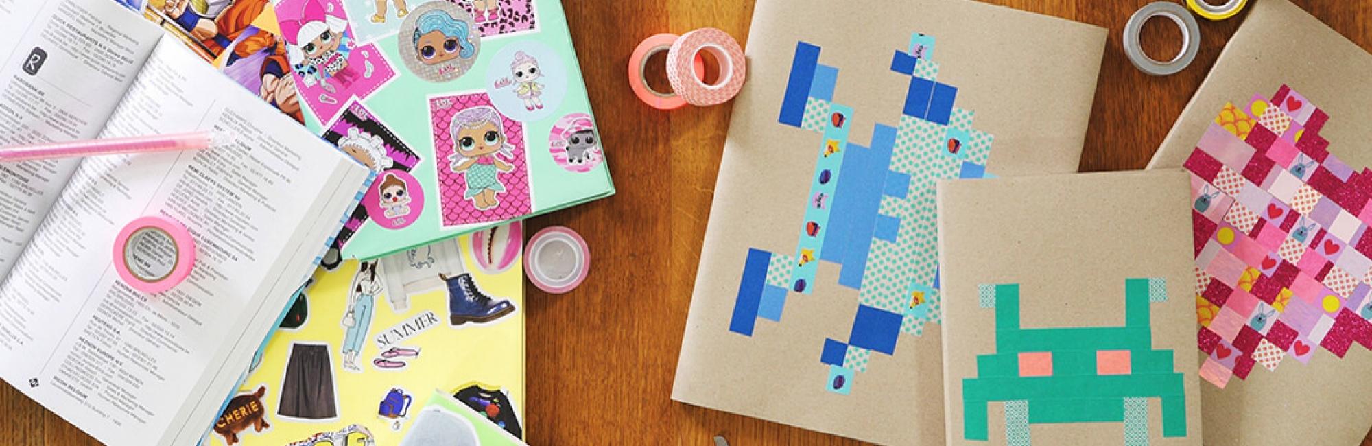 3 idées originales pour recouvrir les cahiers d'école