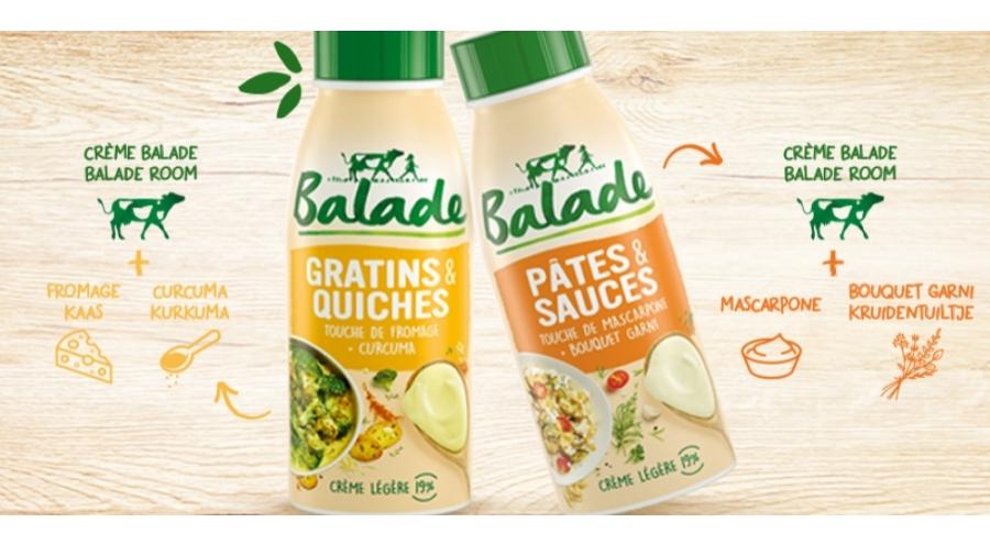 Les nouvelles crèmes Pâtes & Sauces et Gratins & Quiches :
