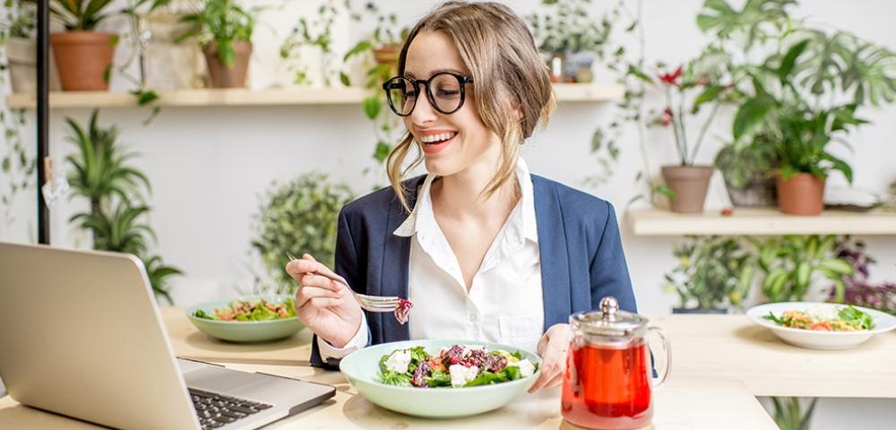 goed eten, lichte maal, op kantoor, lunch