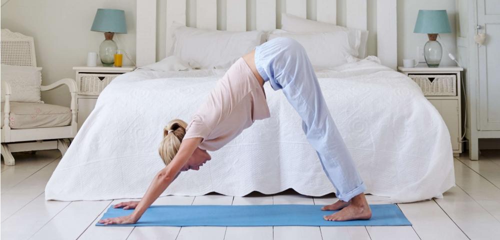 Ochtendroutine, in vorm, stretching
