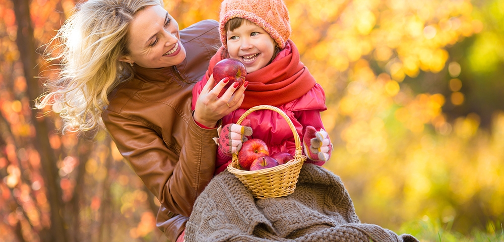 Picknick, de herfst, herfstpicknick
