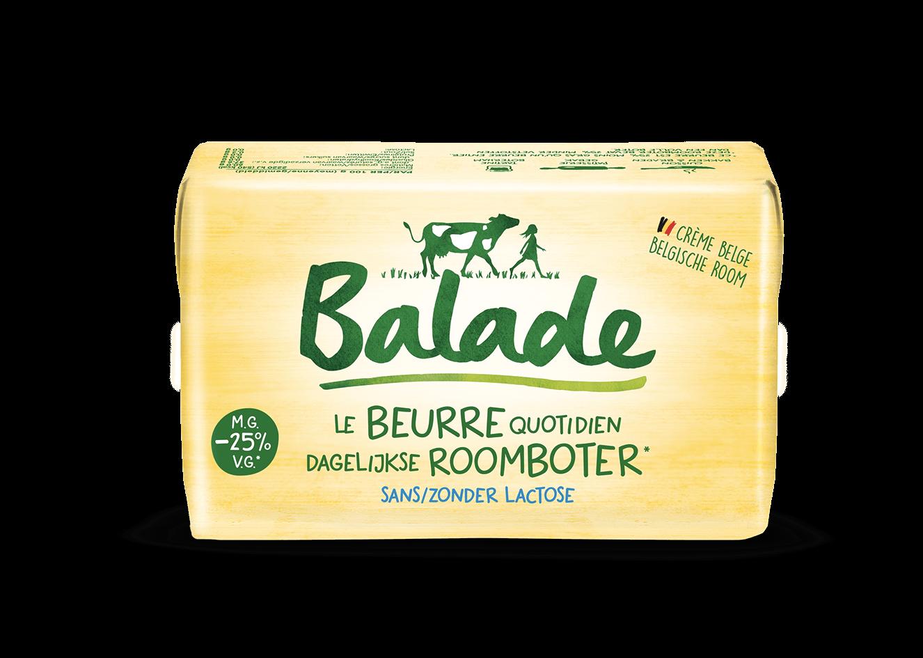 De smaak van echte boter zonder lactose