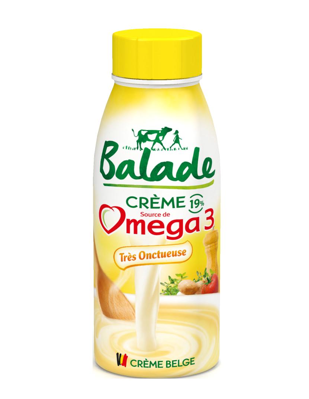 crème, lait, omega 3