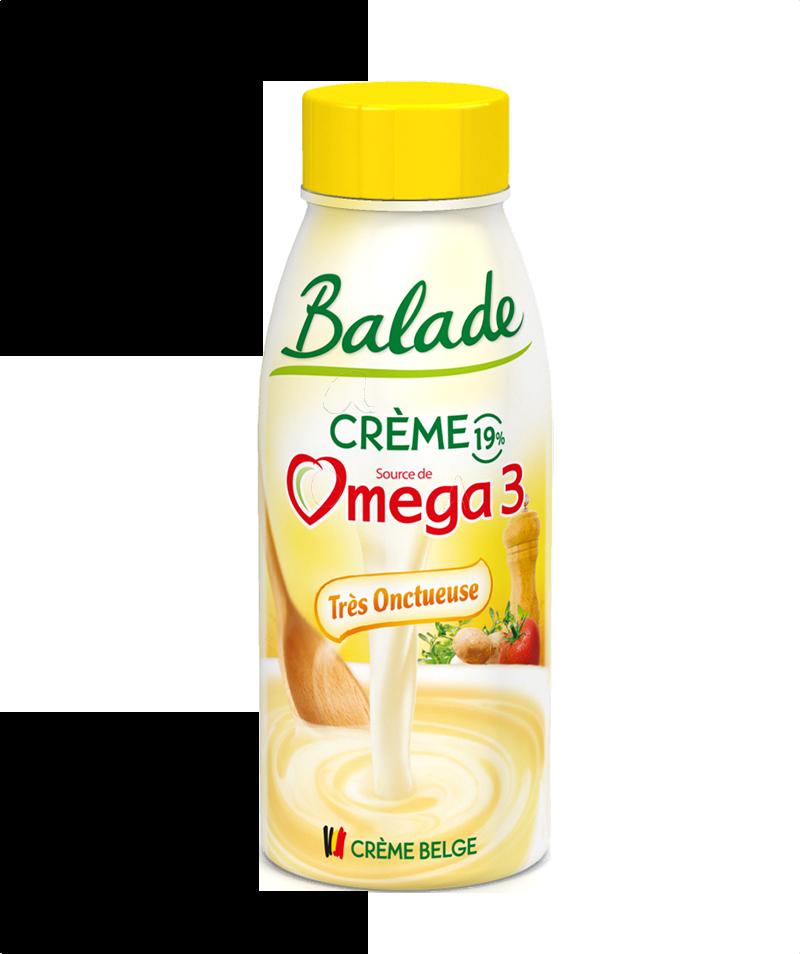 La crème légère…source d'Oméga 3