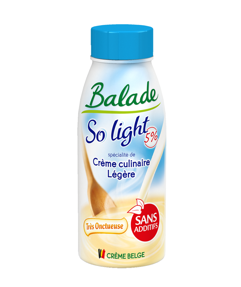 La crème extra-légère…riche en goût