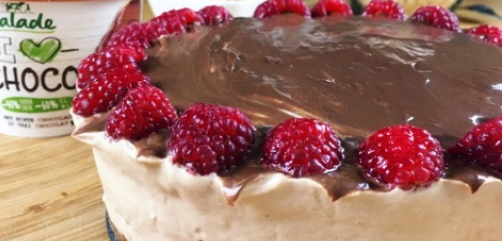cheesecake, fruites rouges, pâte choco
