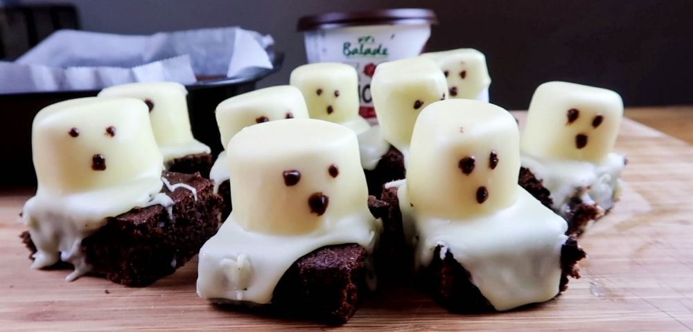 guimauves, brownie, chocolat