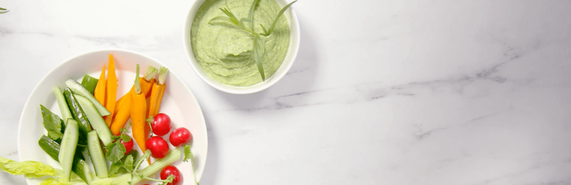 Rauwkostsalade, courgette, avocado