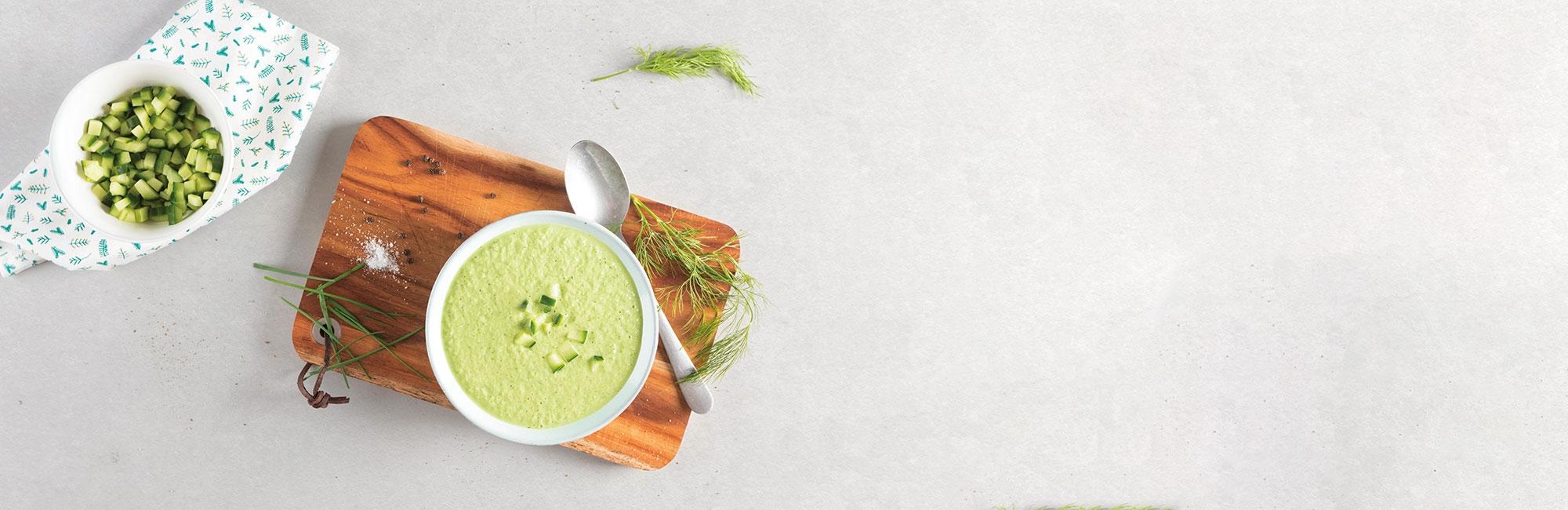 soupe, concombre