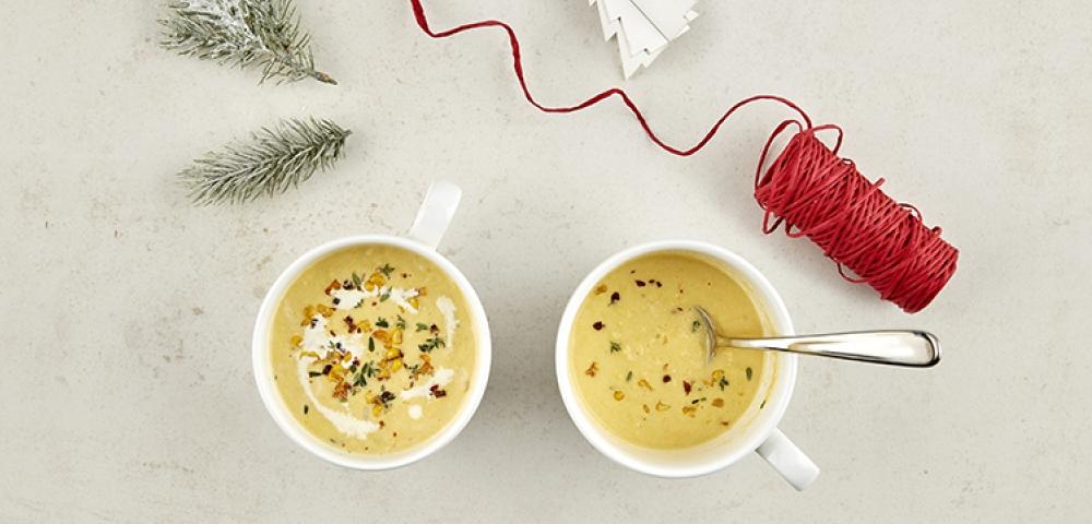 soupe, crème, thym, légumes
