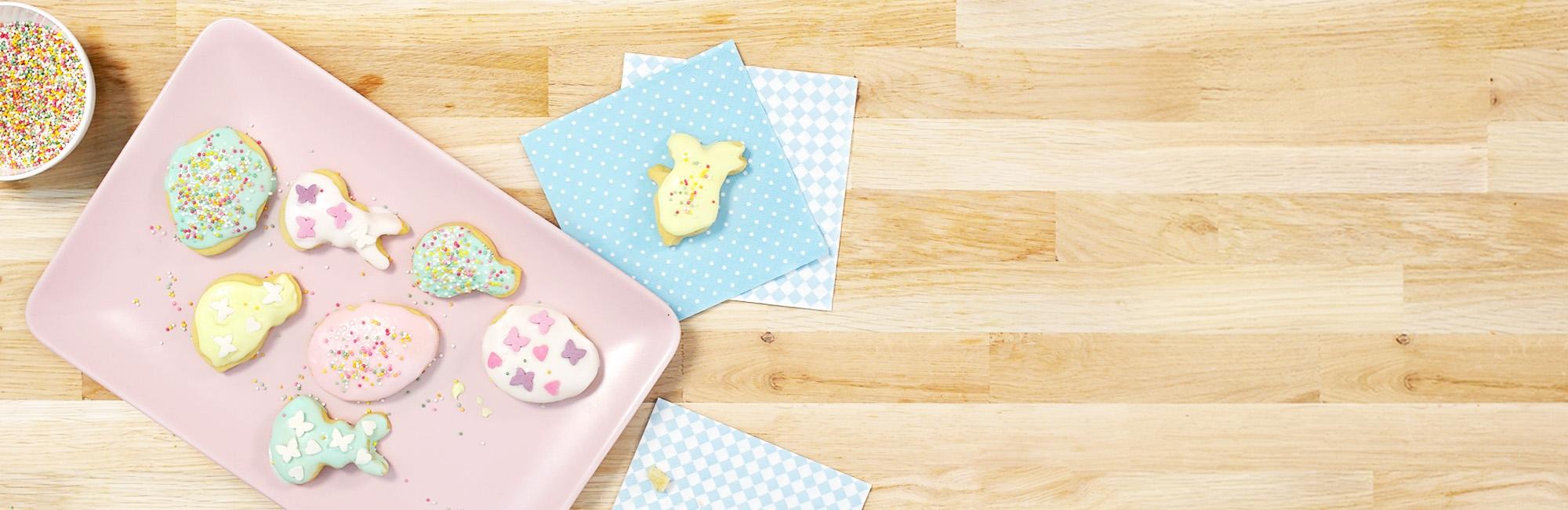 zandkoekjes, koekjes, glazuur