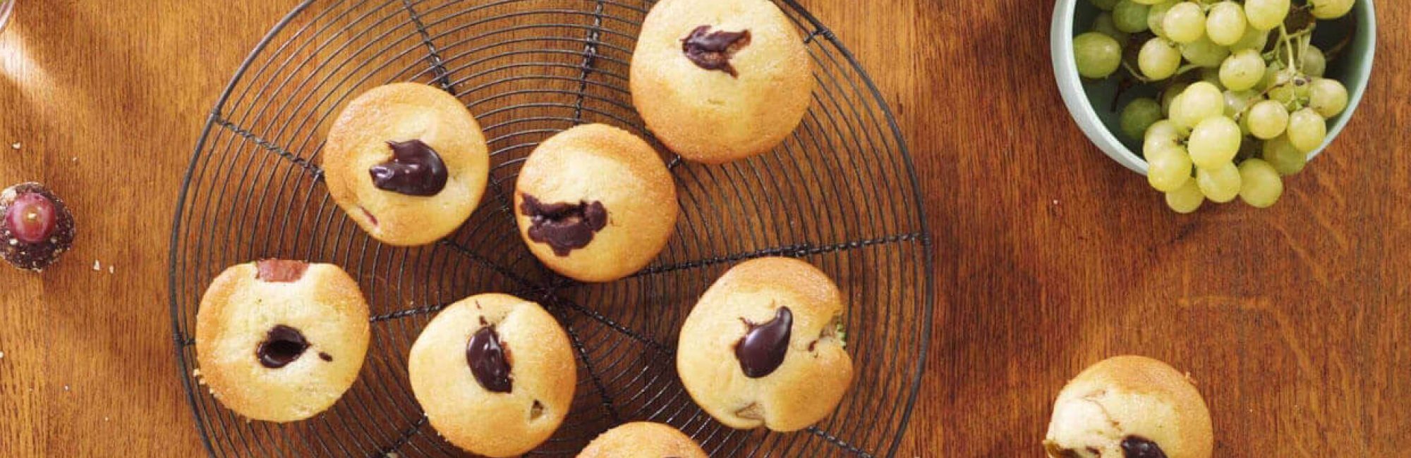 Muffins, chocolat, fruits d'automne