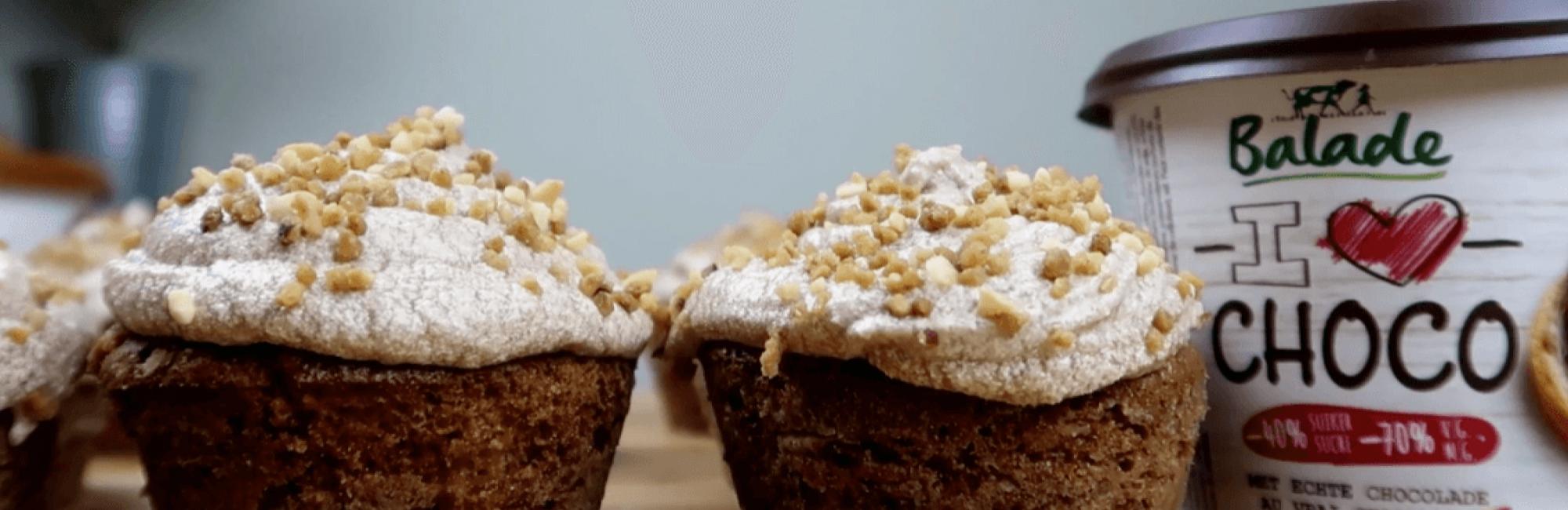 cupcakes, chocolade, chocopasta, glazuur