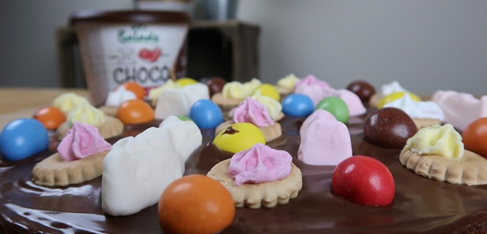 taart, speculaas, chocolade, chocopasta, letterkoekjes, guimauvkes, m&m's